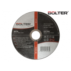 Диск за рязане на метал ø125х1.0х22.23мм. А60Р | BOLTER