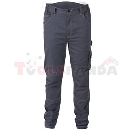7830 ST/XXL - Работен панталон от стреч, тясна кройка, T/C плат, 250 g/m2, сив