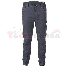 7830 ST/L - Работен панталон от стреч, тясна кройка, T/C плат, 250 g/m2, сив