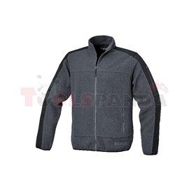7622G /XS - Яке от полар, с полиестерни вложки, 280 гр/м², сиво/черно