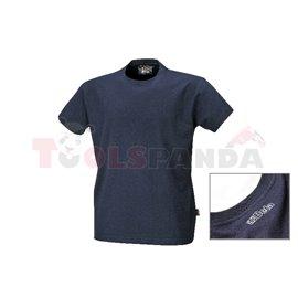 7548BL /XXXL - Тениска работна с къси ръкави, 100% памучно жарсе, 180 гр/м², синя