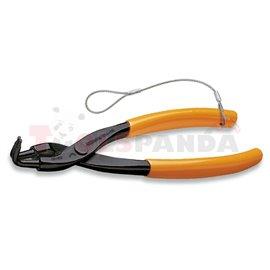 1034HS 170 - Зегер клещи на 90˚ за отвор Ø19-60мм с оранжеви PVC дръжки (с окачвач)