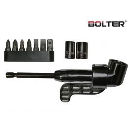 Държач за винтоверт (ъглов) с накрайници к-т 10 части | BOLTER