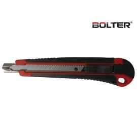 Нож макетен 9мм. (HD) с гумирана дръжка   BOLTER
