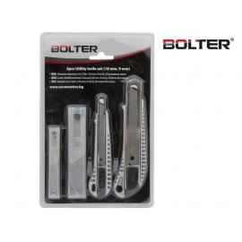 Ножове макетни 2 бр. (18мм. и 9мм.) и 20 резервни ножа к-т   BOLTER
