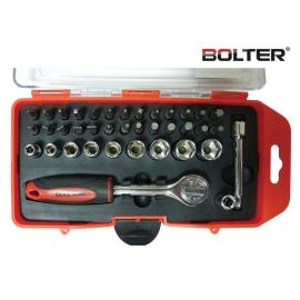 Тресчотка с вложки и накрайници 38 части к-т | BOLTER