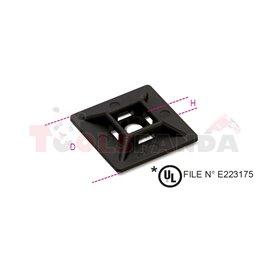 BMN0901 - Скоба, двупътна, за закрепване на кабели към стена, UV защита