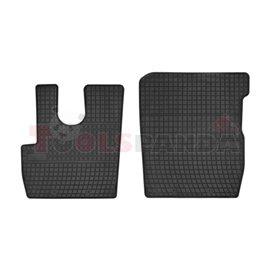 Floor mats (set, rubber, 2pcs, colour black) DAF CF 05.13-