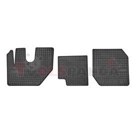 Floor mats (set, rubber, 3pcs, colour black) RVI D 01.13-