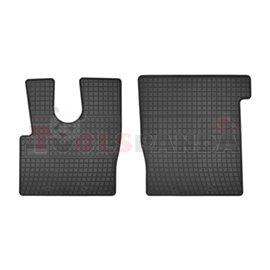 Floor mats (set, rubber, 2pcs, colour black) DAF XF 106 10.12-