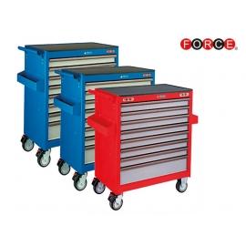 Инструментална количка 7 отделения комплект с 286 инструмента (червена) | FORCE Tools