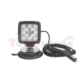 Working lamp (LED, 12/24V, 17W, 1750lm, number of LED diodes 12, 101mmx101mmx60mm, with a plug with magnet with spiral wire 3m w