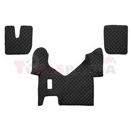 Floor mat F-CORE IVECO, on the whole floor, ECO-LEATHER, quantity per set 3 szt. (material - eco-leather, colour - black, manual