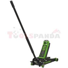 Mobile hydraulic jack, lifting capacity: 3000kg, minimum lifting height: 100mm, maximum lifting height: 530mm, mobile