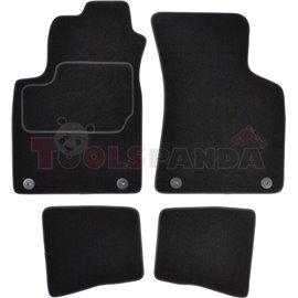 Гумени стелки (велур, 2бр, черен) AUDI TT 10.98-06.06