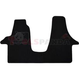 Гумени стелки (велур, 2бр, черен) VW TRANSPORTER V 04.03-