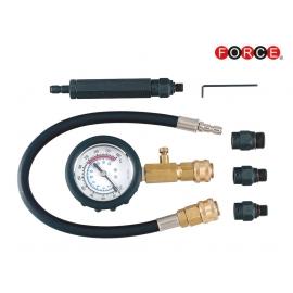 Комплект за измерване на компресията на бензинови двигатели | FORCE Tools