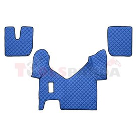 Floor mat F-CORE IVECO, on the whole floor, ECO-LEATHER, quantity per set 3 szt. (material - eco-leather, colour - blue, manual