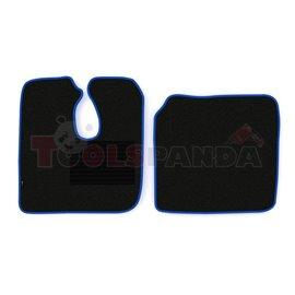 Floor mat F-CORE MAN, driver + passenger, VELOUR, quantity per set 2 szt. (material - velours, colour - blue) MAN L 2000 10.93-