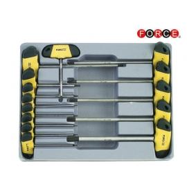 Шестограми отвертка TORX с Т-дръжка (T6-T55) 14 бр. к-т | FORCE Tools