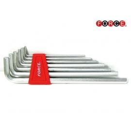 Шестограми Г-образни удължени EXTRA (2.5-10мм.) 7 бр. к-т | FORCE Tools