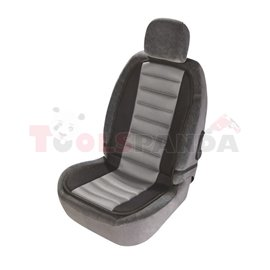 Nut seat SERIES, front, colour grey, polyester, mounting with hooks