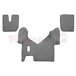 Floor mat F-CORE IVECO, on the whole floor, ECO-LEATHER, quantity per set 3 szt. (material - eco-leather, colour - grey, manual