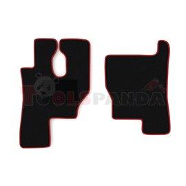 Floor mat F-CORE MERCEDES, driver + passenger, VELOUR, quantity per set 2 szt. (material - velours, colour - red) MERCEDES ACTRO