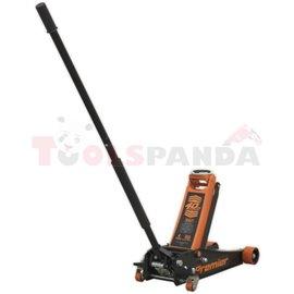 Mobile hydraulic jack, lifting capacity: 4000kg, minimum lifting height: 100mm, maximum lifting height: 530mm, mobile