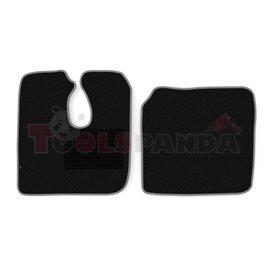 Floor mat F-CORE MAN, driver + passenger, VELOUR, quantity per set 2 szt. (material - velours, colour - grey) MAN L 2000 10.93-