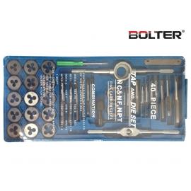 Флашки и метчици к-т 40 части | BOLTER