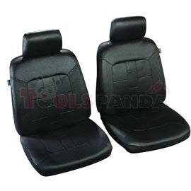 Cover seats T1 (polyester, black, front seats, 2 headrest covers + 2 support covers + 2 seat cover + 2 seat) Salvador, compatibl