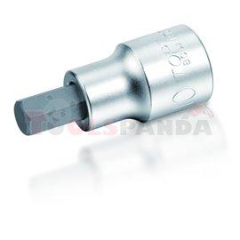 """Bit: socket / drive: 1/4"""", profile: HEX, metric size: 5,5 mm, socket type: short, finish: satin chrome,"""