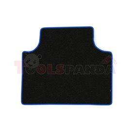 Floor mat F-CORE SCANIA, for central tunnel, VELOUR, quantity per set 1 szt. (material - velours, colour - blue, cab TOPLINE) SC