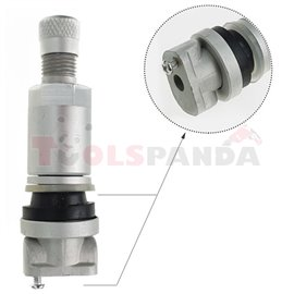 TPMS sensor valve, aluminiowy, Clamp-in, VDO, TG1B, length: 52mm,