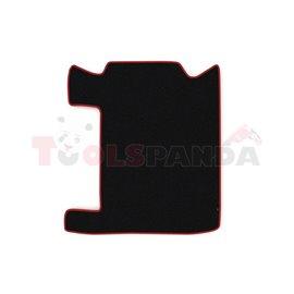 Floor mat F-CORE RENAULT, for central tunnel, VELOUR, quantity per set 1 szt. (material - velours, colour - red) RVI PREMIUM 04.