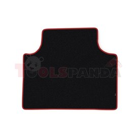 Floor mat F-CORE SCANIA, for central tunnel, VELOUR, quantity per set 1 szt. (material - velours, colour - red, cab TOPLINE) SCA