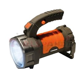 Battery powered flashlight TS-1980, plastic, 3W LED + 3W COB, 360 revolving handle USB charging cable included (number of LED di