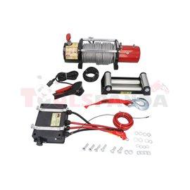 DWM12000HD ZESTAW Wyciągarka Dragon Winch 12000 12V MAVERICK+pokrowiec na wyciągarkę, uciąg na pojedynczej linie: 12000lb / 5440