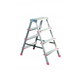 Стълба алуминиева двураменна домакинска 2X4 | STS