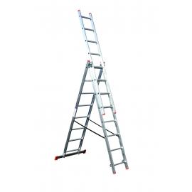 Стълба алуминиева трираменна комбинирана (3X9)   STS