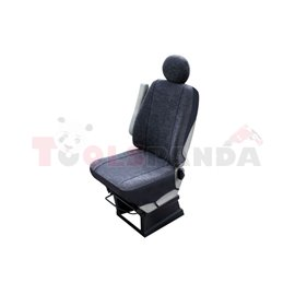 Cover seats (velvet, colour: graphite, driver seat) BUS I M, compatible with airbags