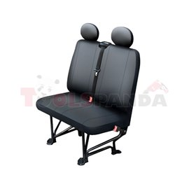 Cover seats (eco-leather, colour: black, double passenger seat) BUS II L, compatible with airbags