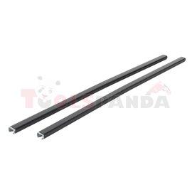 Loading carrier bar (2 pcs, Steel, length: 108 cm, payload: 100 kg, Black) THULE SquareBar 7121