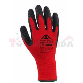 12 pairs, Protective gloves, ACTIVE GRIP, latex / polyester, colour: black/ red, size: 9 / L, 2016 3131X EN 388