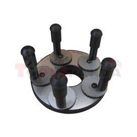UNITROL DOCISK DO-5P do felg 5 otworowych, rozstaw 5X od 90 do 140, na wałek fi 36 mm i fi 40mm po zastosowaniu adaptera