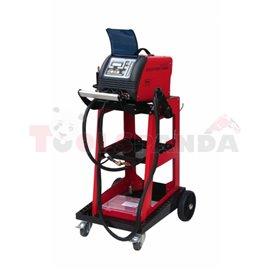 TECNO SPOTTER 5800 DIGITAL z wózkiem, urządzenie do wyciągania, zgrzewania jednostronnego, łatania i rozgrzewania elektrodą węgl