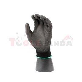 12 чифта, Защитни ръкавици, ULTRA BLACK, найлон / полиуретан, цвят: черен, размер: 8 / M, 4131 EN 388 EN 420 Категория II