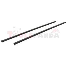 Loading carrier bar (2 pcs, Steel, length: 150 cm, payload: 100 kg, Black) THULE SquareBar 7125