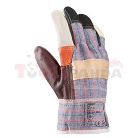 12 pairs, Protective gloves, leather, size: uniwersalny / XL, intended use: for maintenance-cleaning works, 2121 EN 388 Kategori